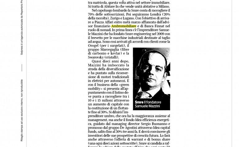 Corriere Economia 22 febbraio 2016