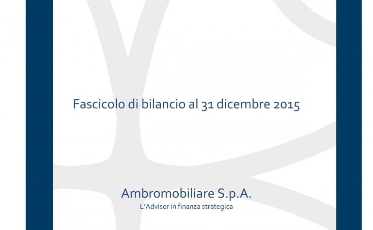 Progetto di Bilancio al 31 dicembre 2015