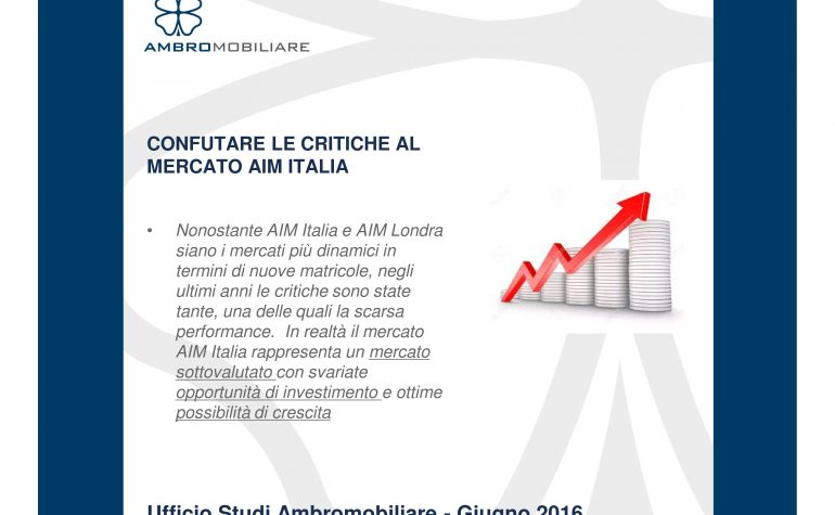 Ufficio Studi Ambromobiliare – Performance AIM