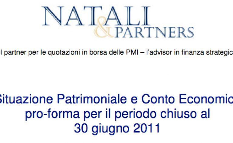 Situazione Patrimoniale e Conto Economico pro-forma al 30.06.2011