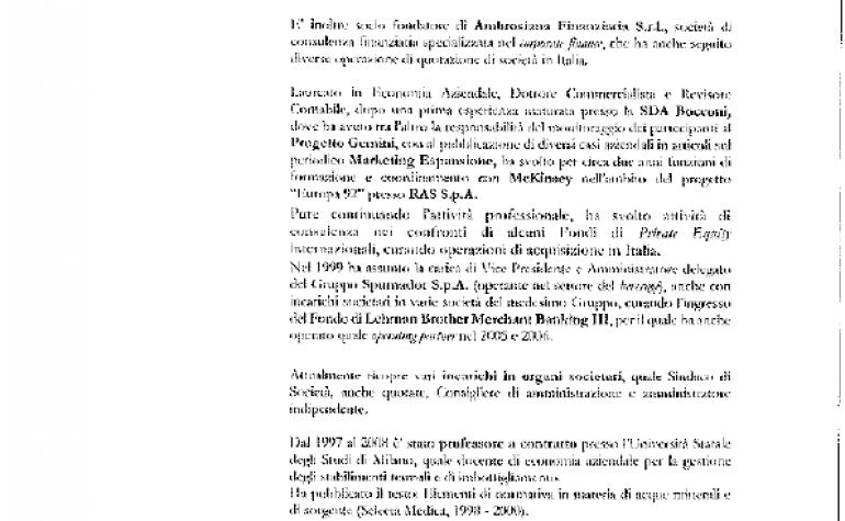 CV e cariche Davide Mantegazza