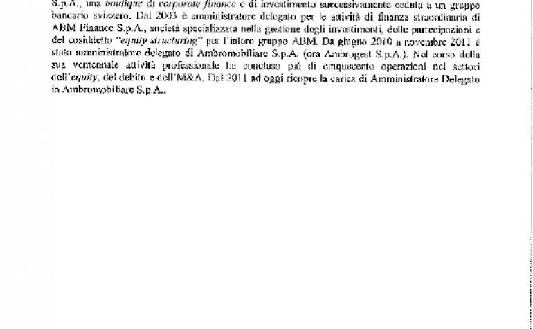 CV e cariche Giovanni Cusmano