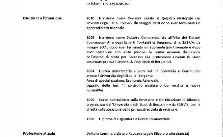 CV e cariche Marco Bronco