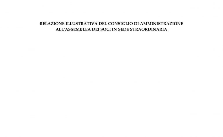 Relazione del Consiglio di Amministrazione per l'assemblea straordinaria del 29 aprile 2015