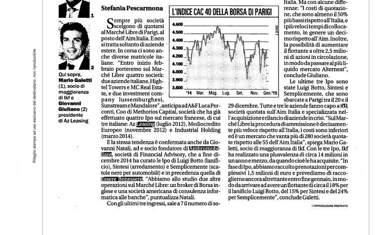 La Repubblica 19 gennaio 2015