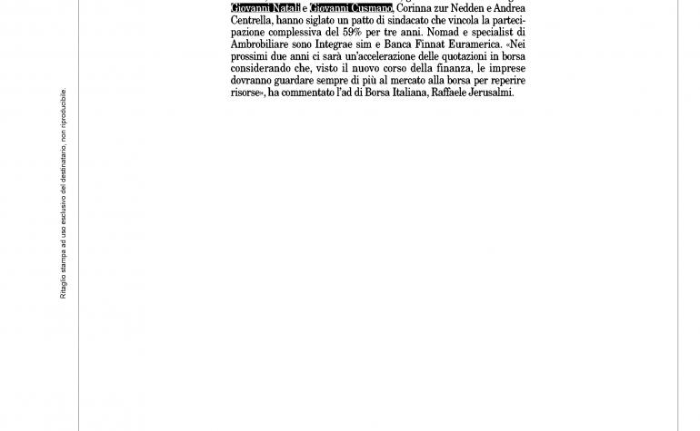 Milano Finanza 24 dicembre 2011