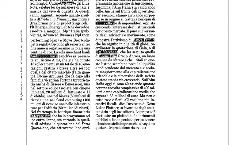 Milano Finanza 15 marzo 2014