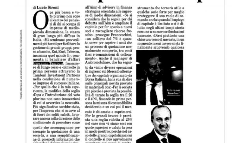 Milano Finanza 26 luglio 2014