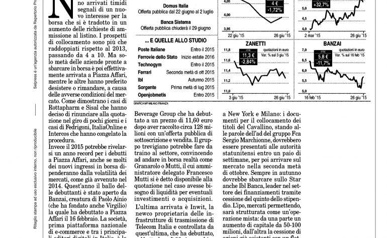 Milano Finanza 27 giugno 2015