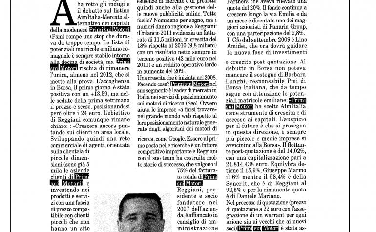 Milano Finanza 4 agosto 2012