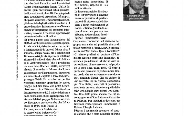Borsa&Finanza 17 ottobre 2009
