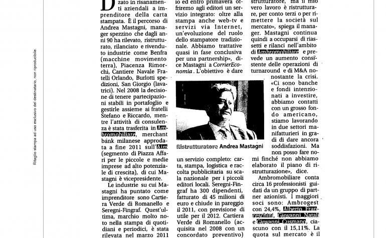 Corriere Economia 23 gennaio 2012