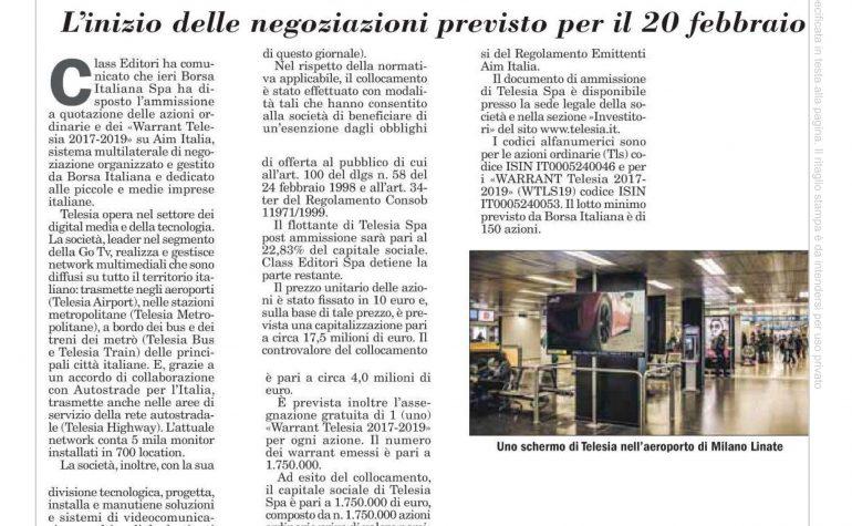 Italia Oggi 17 febbraio 2017