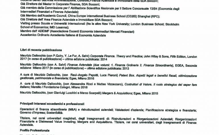 CV e cariche Dallocchio