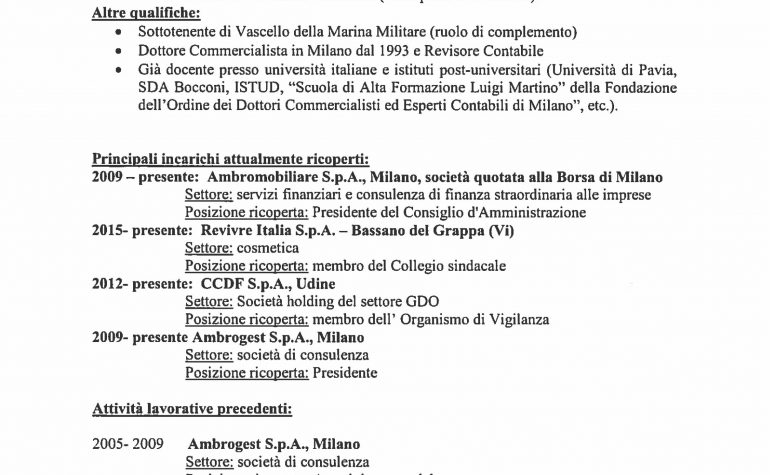 CV e cariche Franceschini