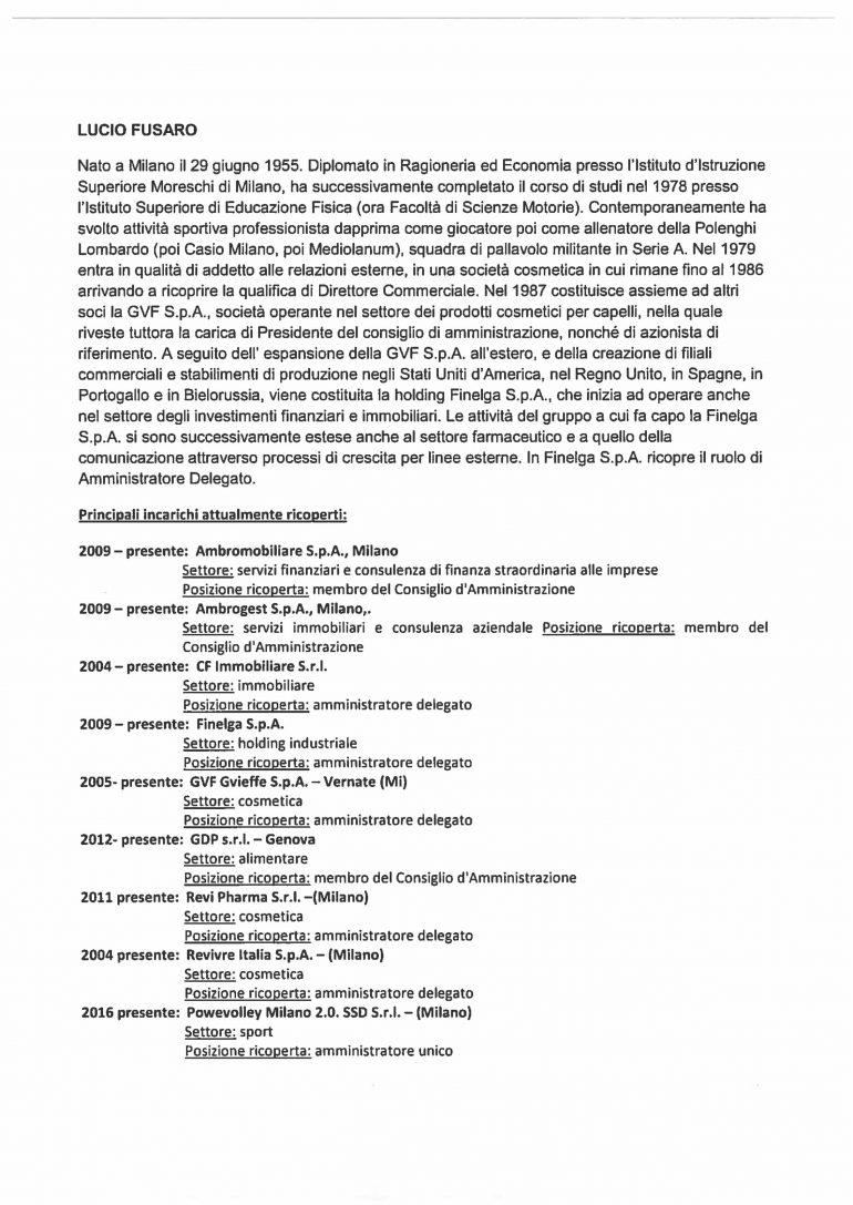 CV e cariche Fusaro