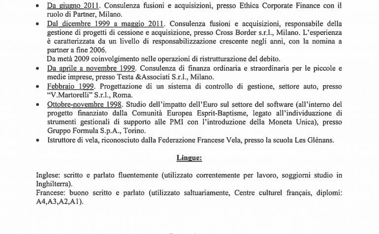 CV e cariche Zampieri