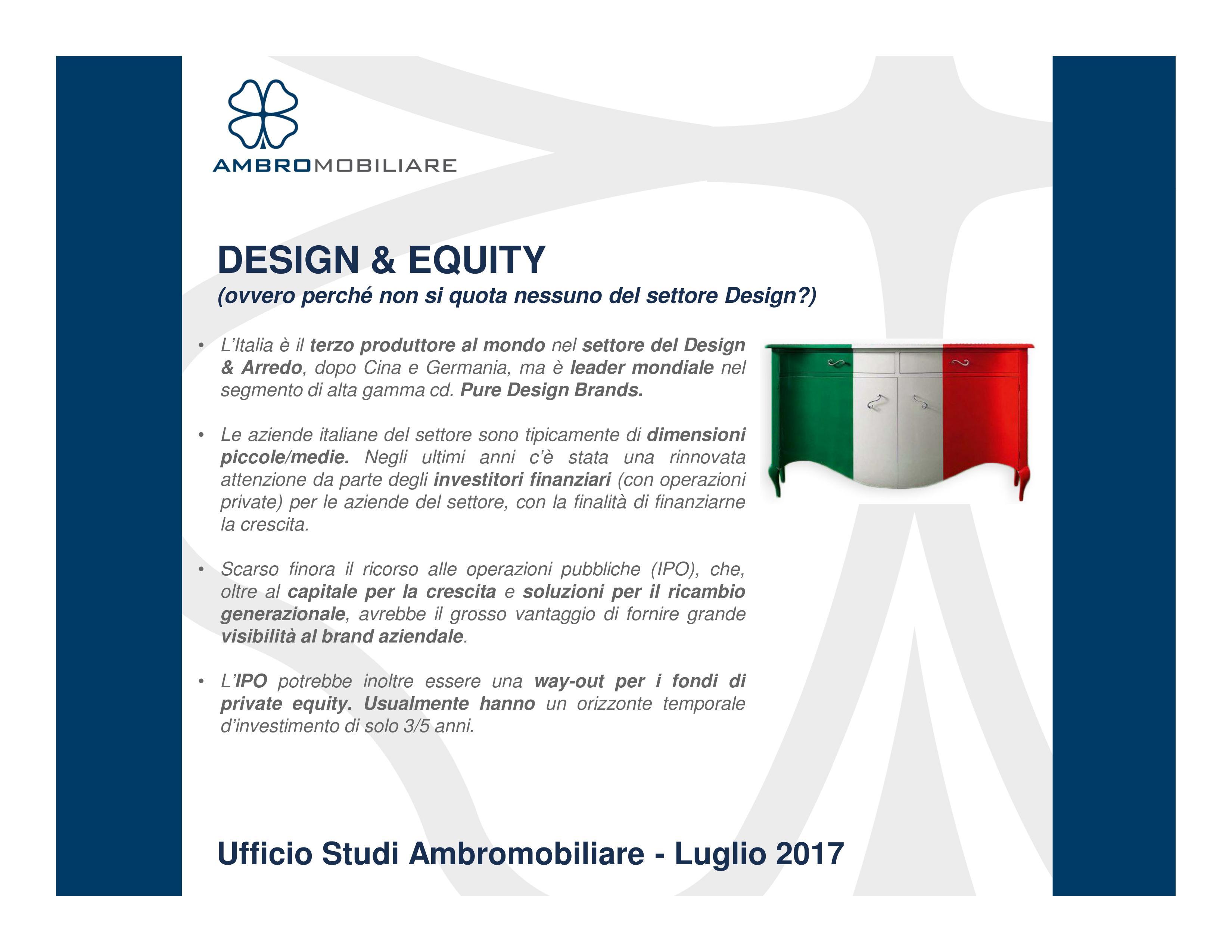 Ufficio studi ambromobiliare design equity for Ufficio stampa design