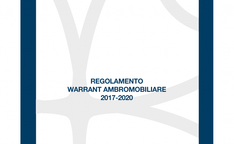 Regolamento Warrant Ambromobiliare 2017-2020