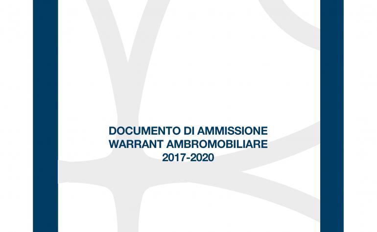 Documento di Ammissione Warrant Ambromobiliare 2017-2020