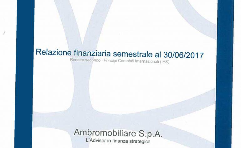 Relazione finanziaria semestrale al 30.06.2017