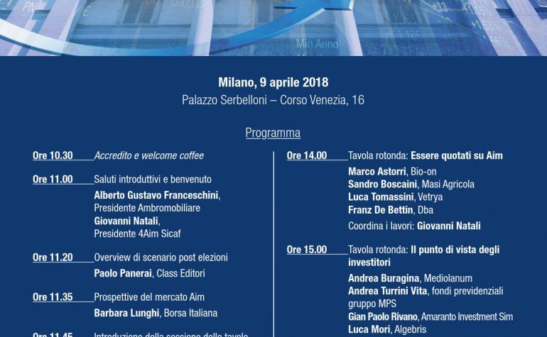 Invito Ambromobiliare e 4AIM SICAF convegno 9 aprile 2018