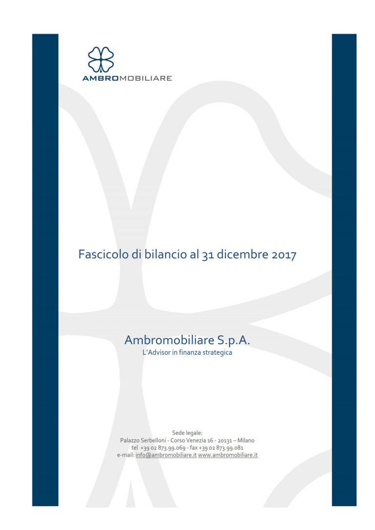 Progetto di Bilancio al 31 dicembre 2017