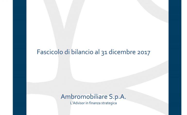 Bilancio al 31 dicembre 2017