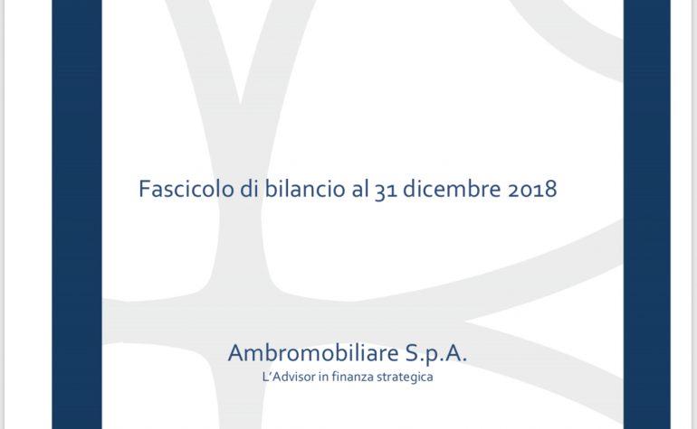 Fascicolo di progetto di bilancio al 31 dicembre 2018