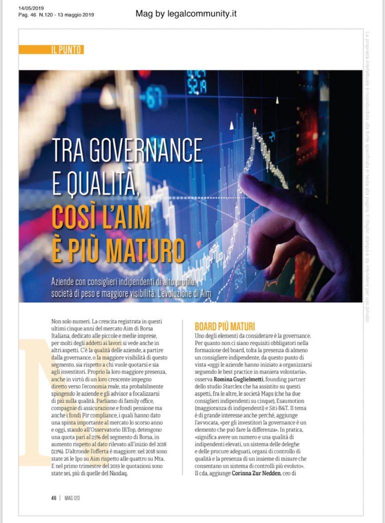 Mag di legalcommunity.it 14 maggio 2019
