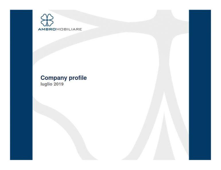 Company profile luglio 2019