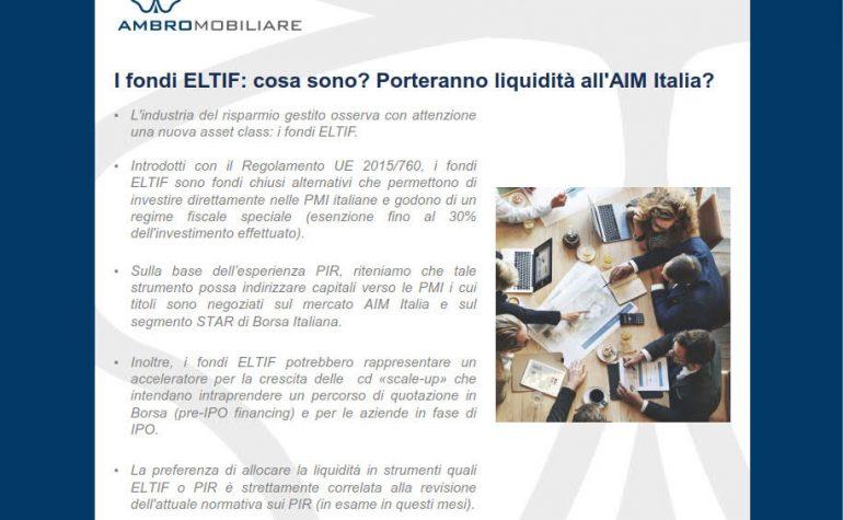 I fondi ELTIF: cosa sono? Porteranno liquidità  all'AIM?