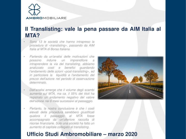 Il Translisting: Vale la pena passare da AIM Italia al MTA?