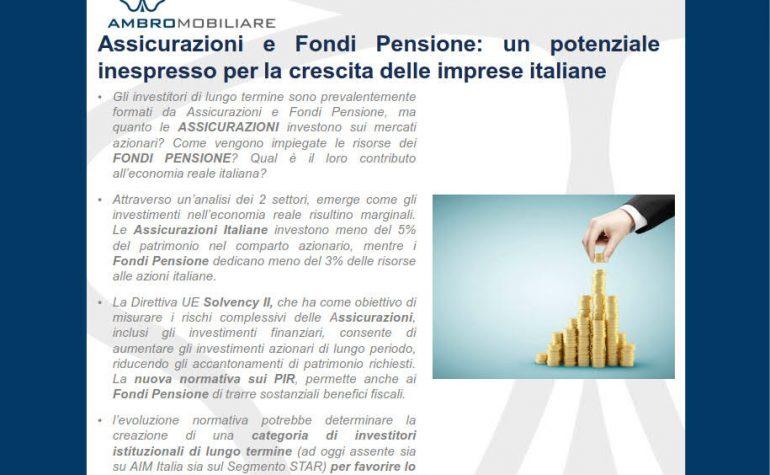 Pubblicazione Assicurazioni e fondi pensione come investitori in equity