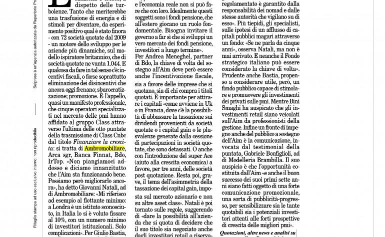 Milano Finanza 20 gennaio 2016