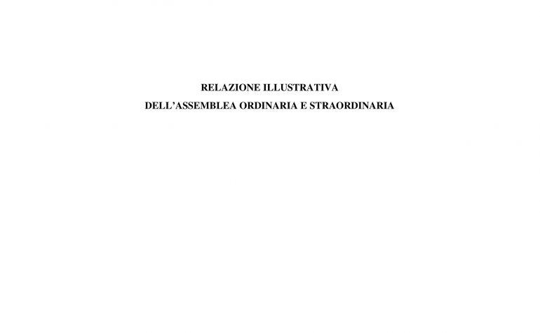Relazione illustrativa Assemblea 26 aprile 2016
