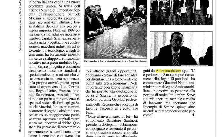Corriere dell'Umbria 30 aprile 2016