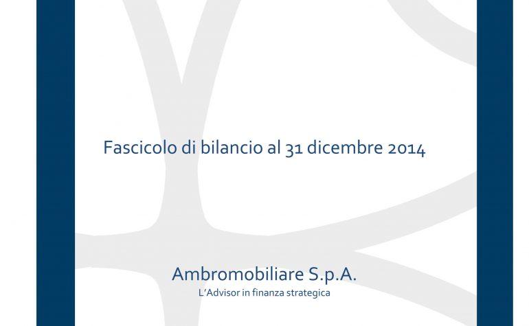 Progetto di Bilancio IAS/ITAGAAP al 31 dicembre 2014