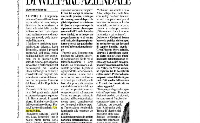 Corriere dell'Umbria 26 luglio 2016