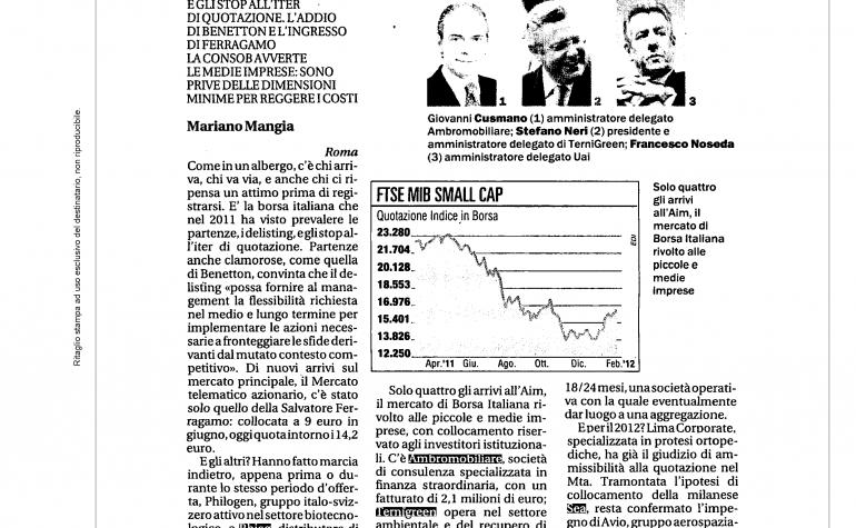 Affari & Finanza 27 febbraio 2012
