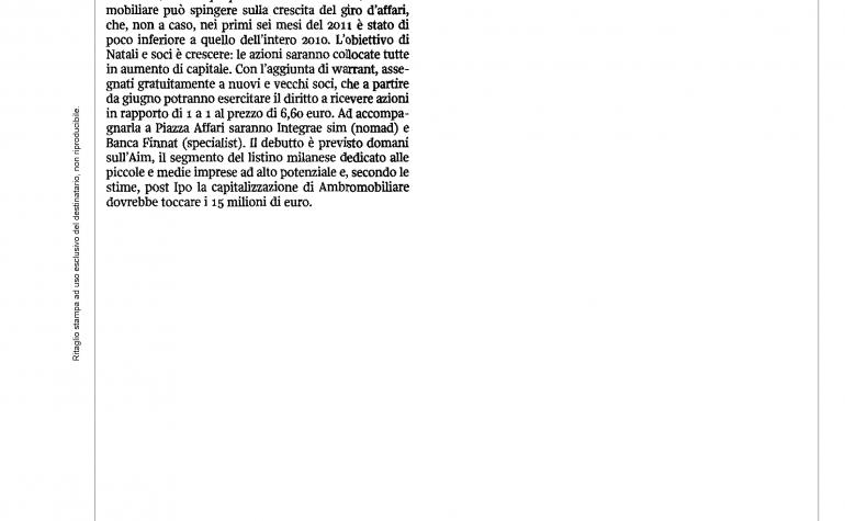 Corriere della Sera 22 dicembre 2011