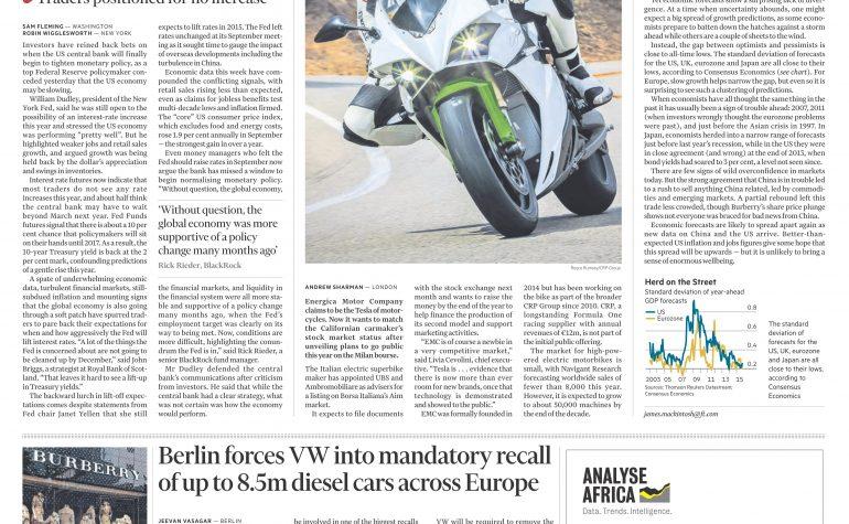 Financial times 16 ottobre 2015