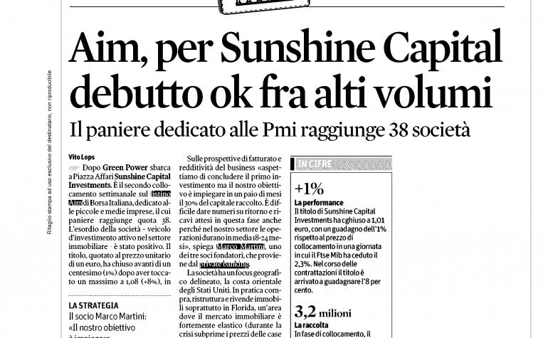 Il Sole 24 ore 27 gennaio 2014