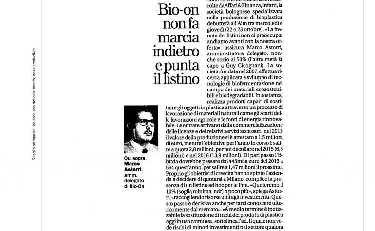La Repubblica 20 ottobre 2014