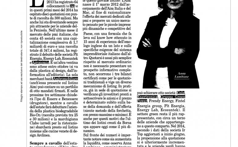 Milano Finanza 7 giugno 2014