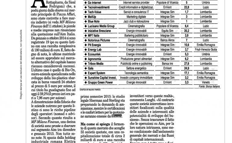 Milano Finanza 1 novembre 2014