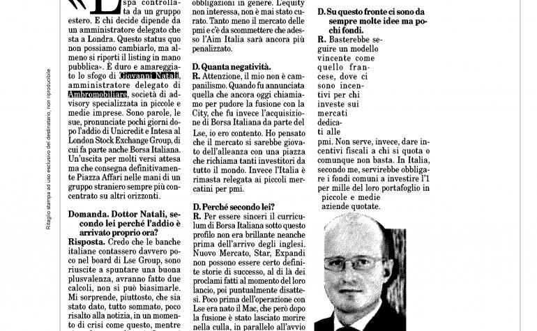 Milano Finanza 2 giugno 2012