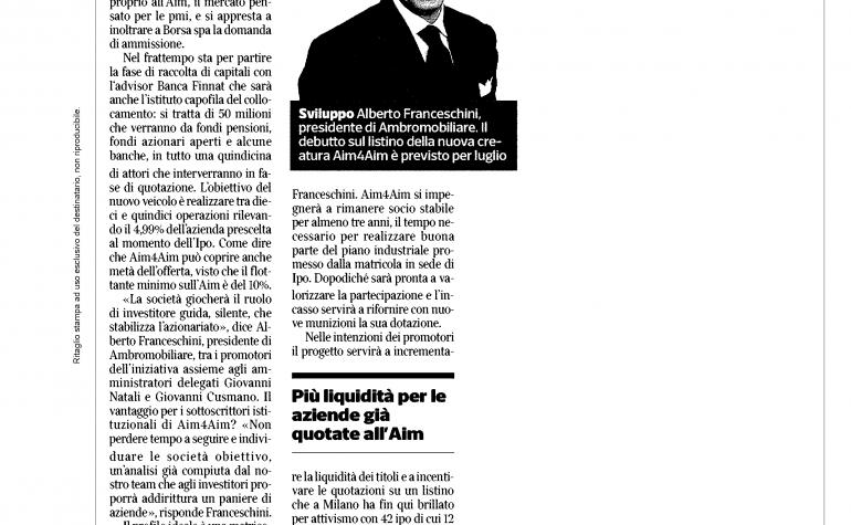 Corriere Economia 19 maggio 2014