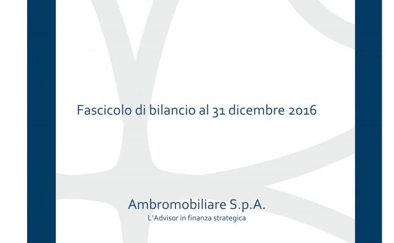 Bilancio al 31 dicembre 2016