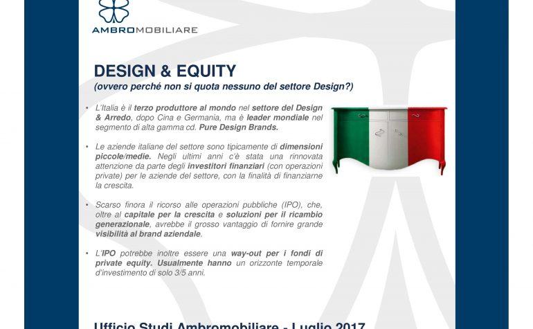 Ufficio studi Ambromobiliare  Design&Equity